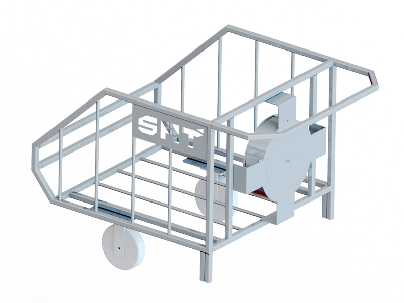 Duct extension trolley